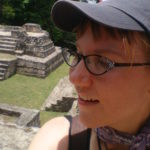 Donna at Belize Maya Temple