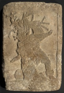 """Ballplayer relief panel. Guatemalan Lowlands. La Carona (Site """"Q""""). Maya, AD 550–950. Limestone. Jay I. Kislak Collection, Rare Book and Special Collections Division, Library of Congress (011.00.00)"""