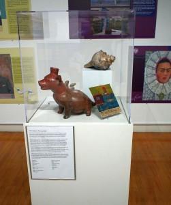 Colima Dog Owend by Kahlo and Rivera in the Mexicanidad Exhibit traveling to Mexican Consulates