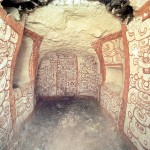 The mask is thought to come from this looted tomb (from National Geographic)