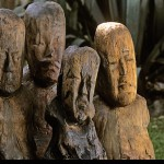 Olmec, El Manati, Wooden Busts